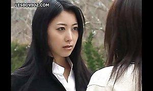 Oriental teen lesbian schoolgirls duo pretence