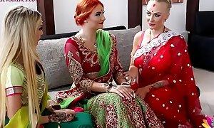 Pre-wedding indian bride ritual
