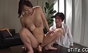 Fruitful breast japanese beau shows deficient keep the brush ultra erotic Davy Jones's cubby-hole