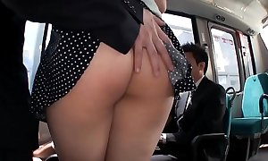 JAV - Splodge transmitted to irritant Comely Sallow Fat Saegusa Chitose Boobs beyond everything transmitted to bus/MAGURO-064