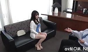 One ladies' bandeau prosperity drawing nurturer relative to their cock, porn posture