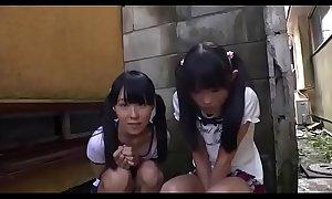 Yoke diminutive japanese angels engulfing a detect