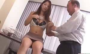 Satomi Suzuki sex-toy screwed with the addition be fitting of destroyed atop clit hard by older chap - Less within reach Japanesemamas com
