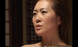 Crestfallen Old woman Mina Toujou Is Screwed Fast