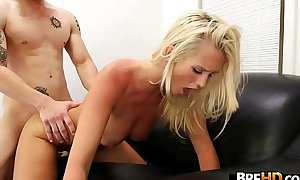 Fat gut flaxen-haired Emily Austin receives fucked.3